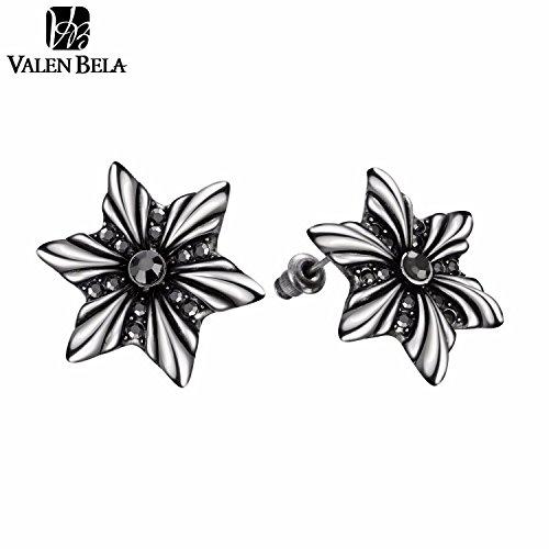 Slyq Jewelry Black Tin Alloy Stud Brand Earring ED2231 (Tin Man Nose)