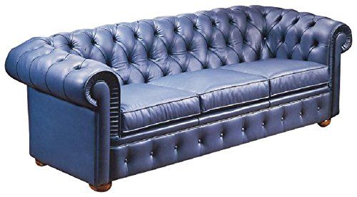 Camas, Sofa Mod. Chesterfield, Refined Leather Sofa Executed With Great  Attention To Detail