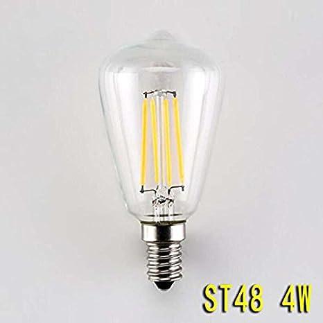 rsen Edison Bombilla LED ST48 Chupete Papaya Retro lámpara 4 ...