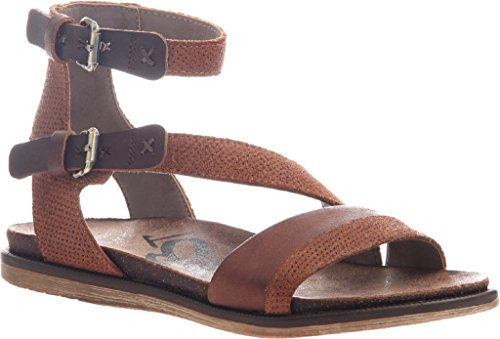 OTBT Women's March Strappy Sandal,Tuscany Leather,US 8 (Asymmetrical Leather Sandals)