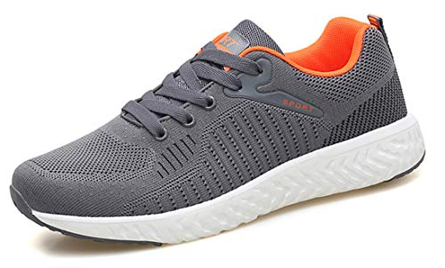 Athletic Shoes Sport Trainers Jogging Breathable Mens Gym Knit AIRAVATA Comfort 18621 Grey Casual Fitness Lightweight wTHxqaP