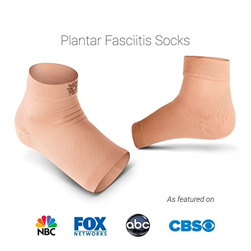 Bitly Plantar Fasciitis Socks (1 Pair) Premium Ankle Support foot Compression Sleeve (Nude, Large) by Bitly (Image #8)