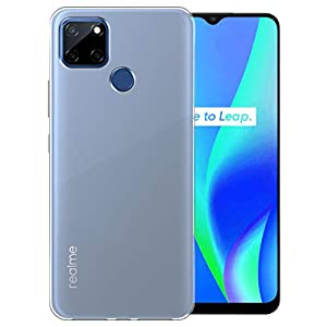 Fashionury Back Cover Case with Ultimate Protection, Flexible Transparent Back Cover for Realme C25s/ Realme C12/ Narzo…