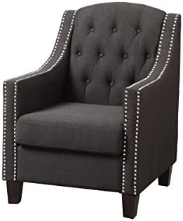 Poundex Bobkona Taden Nail Head-Trimmed Accent Chair