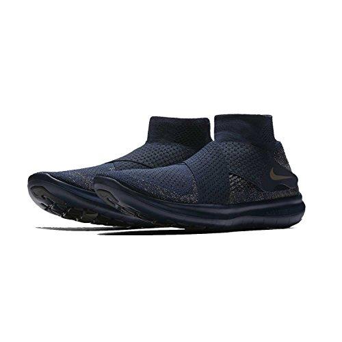 Nike Mens Lab Gratis Rn Rörelse Fk 2017, Svart / Last Khaki Midnatt Dimma College Marin / Taupe Grå / Mörk Svamp