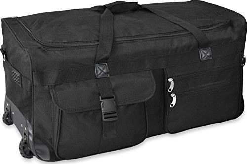Extra großer Trolley - Reisekoffer Reisetasche 80 100 120 oder 150 Liter wählbar Farbe Schwarz/100 Liter