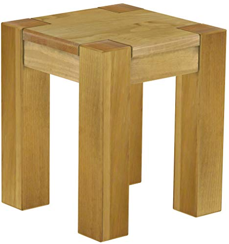 - Brazilfurniture Stool Sao Paulo Solid Pine, 38 x 38 cm, Brazil Wood Oiled, Optional Matching Tables and Chairs, Coffee Modern Wooden Office Conference Desk Kitchen Living Room