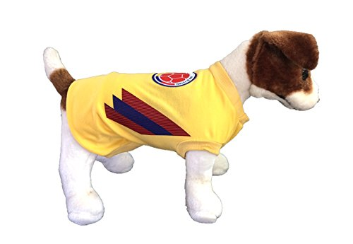 f70b62bcc Dog Soccer Jersey Colombia-Pet T-shirt- Made of 100% Polyester ...