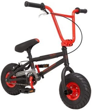 10 Mini BMX Red, Built with Fully TIG Welded hiTensile Steel Frame with Reinforcement Gussets and Micro Sized Heavy Duty Dropouts, for Adventurous Kids