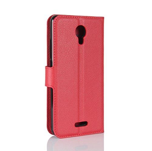 Funda WIKO jerry 2,Manyip Caja del teléfono del cuero,Protector de Pantalla de Slim Case Estilo Billetera con Ranuras para Tarjetas, Soporte Plegable, Cierre Magnético(JFC11-38) D