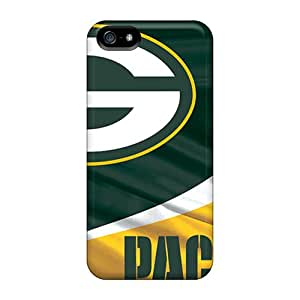 Scratch Resistant Hard Cell-phone Cases For Iphone 5/5s With Allow Personal Design High-definition Green Bay Packers Pattern JonBradica