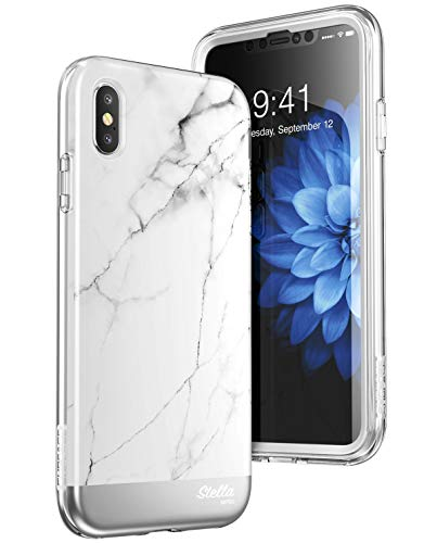 SUPCASE iPhoneXsMaxCase, [Unicorn Beetle Stella Series] Premium Hybrid Shinning Glitter Bling Protective Case with Built-in Screen Protect for Apple iPhoneXsMax 6.5 inch 2018 Release (Marble
