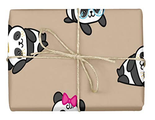 (Panda Bears - Design Gift Wrapping Paper | for Baby Showers, Kids Birthdays, Christmas Gifts | Unique Unisex Print | Wrap A Birthday Parcel & Present | 5 Sheets | 20 x 28 Inches)