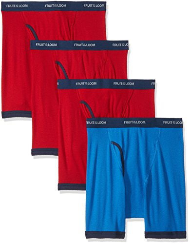 Fruit of the Loom Men's  Low Rise Ringer Boxer Brief(Pack of 4)
