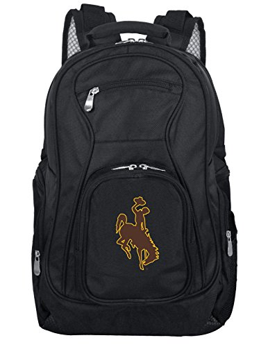 Denco NCAA Wyoming Cowboys Voyager Laptop Backpack, 19-inches, Black