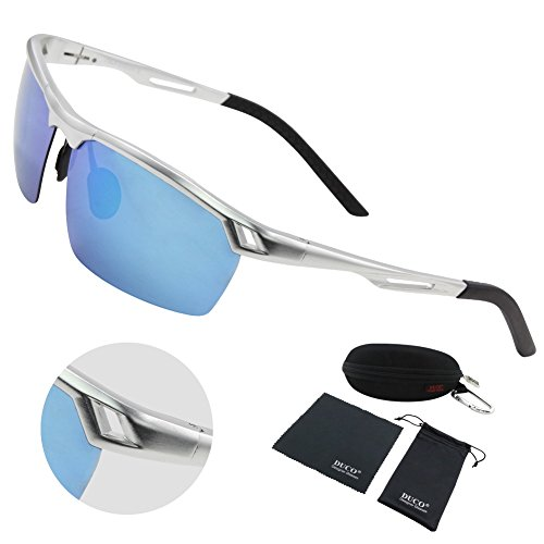 Duco Men's Sports Style Polarized Sunglasses Driver Glasses Metal Frame 8550