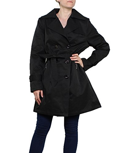 Taille 48 Rouge Noir Trench impermable jusqu' Miss Manteau xqIdUvYww