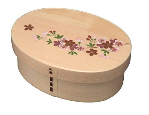 Wooden Magewappa one stage lunch box cherry tree (with partition) by Yanbe lacquerware shop