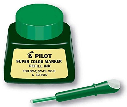 (Pilot Super Color Permanent Marker Refill Ink, 1 Ounce Bottle with Dropper, Green Ink (43800))