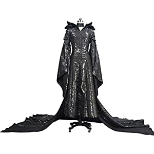 WSJDE Disfraz de Maléfica Adultos Evil Queen Cosplay Outfit ...