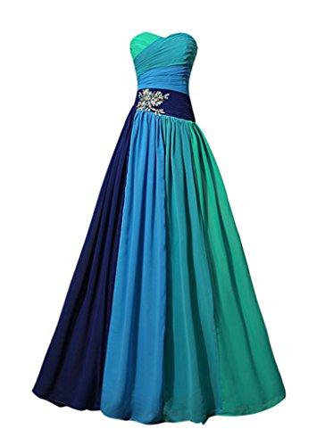 Taft einem Kleid emmani mit Grün Bosom Damen Ball dass UB7w1xwnPO