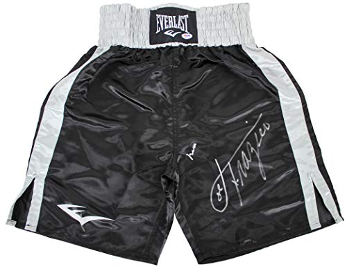 Muhammad Ali & Joe Frazier Signed Black Everlast Boxing Trunks PSA Itp #3A60518
