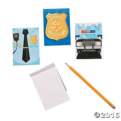 [Pack of 12 - Police Party Notepads - Party Loot Bag Fillers] (Police Officer Party Supplies)