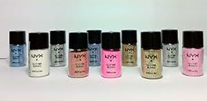 NYX Glitter Powder Pigment All 10 Colors