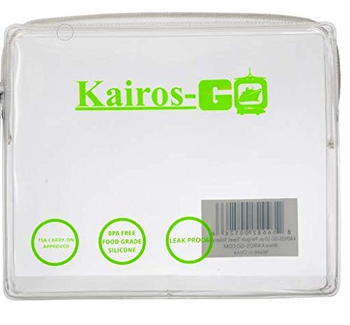 KAIROS-GO TSA Approved Toiletry Bag | Carry-On Luggage Travel | Clear Quart Sized with Durable Zipper | Travel Airport Airline Compliant Bag | Backpack for Liquids/Bottles| Soft EVA 3-1-1 Kit