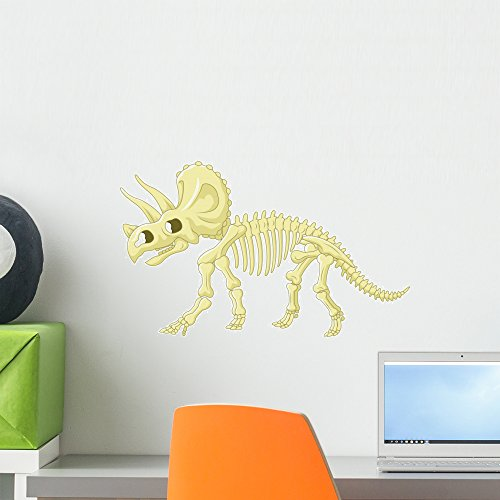 Wallmonkeys Triceratops Skeleton Wall Decal Peel and Stick Decals for Boys (18 in W x 13 in H) WM497459 -