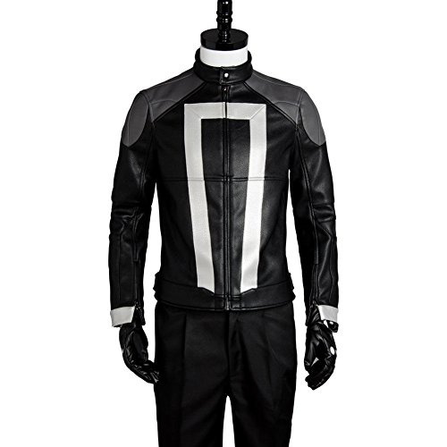 Wolfbar Agents of Shield Ghost Rider Jacket Coat Halloween Cosplay Costume XL ()