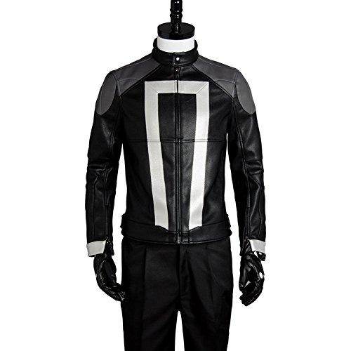GOTEDDY Rider Robbie Biker Leather Jacket Halloween Party Cosplay Costume (L) ()