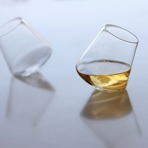 Sempli 4 Crystal Clear Hand Blown Shot Glasses in Gift Box