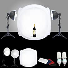 "CanadianStudio STUDIO IN A BOX PHOTO LIGHT TENT PHOTOGRAPHY SET 1000 watt output Continuous Light Kit, 32"" light tent with 4 pcs backdrops"
