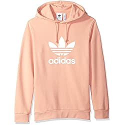 adidas Originals Men's Trefoil Hoodie, Dust Pink, Medium