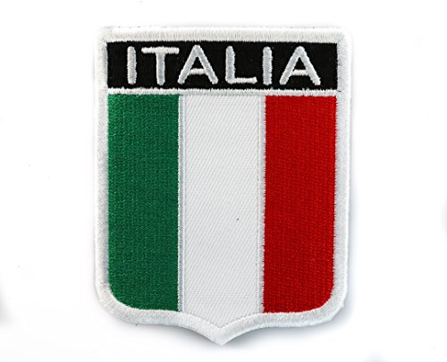 Italian Flag Patches (Italian Flag Shield Embroidered Patch IVANP2618)