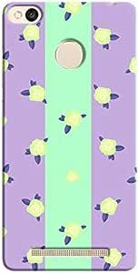 Cover It Up - Green Flower Violet Bold Stripes Xiaomi Redmi 3s Prime Hard Case