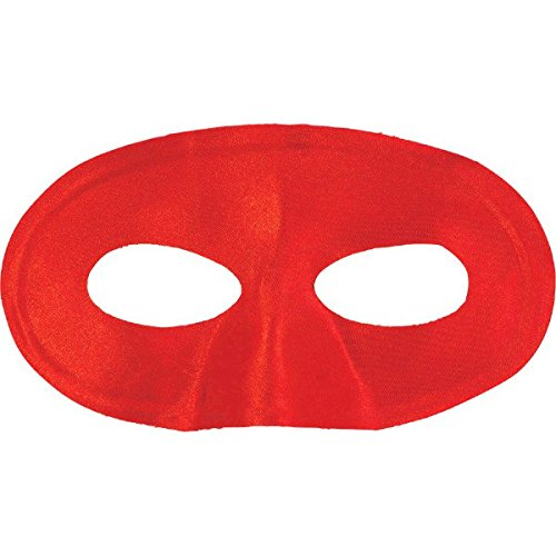 Amscan Party Perfect Team Spirit Domino Style Mask, Red, 4.6 x 7.1