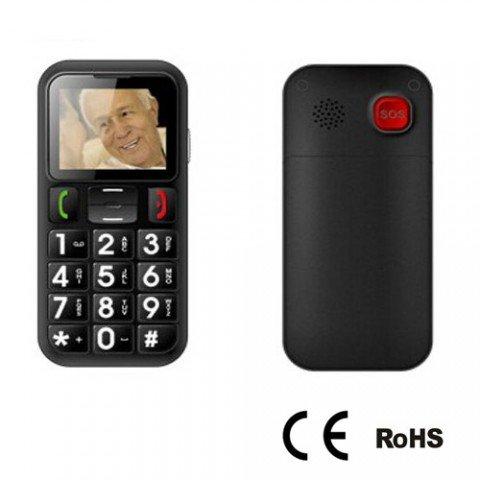 Big Button groß Display Einfach zu verwenden Senior Citizen Handy mit eingebauter SOS Panic Button-Smartphone, SIM, FM Radio und Taschenlampe Funktion-funktioniert mit jeder Netzwerk weltweit-Sicherheit gewährleistet, Werkzeug für ältere Menschen, Kinder, Lone/Night Shift Workers etc.