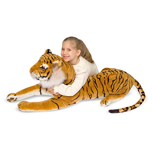 "Melissa & Doug Tiger Giant Stuffed Animal (Wildlife, Soft Fabric, Beautiful Tiger Markings, 67"" H x 20"" W x 14"" L, Great Gift for Girls and Boys - Best for 3, 4, 5 Year Olds and Up)"