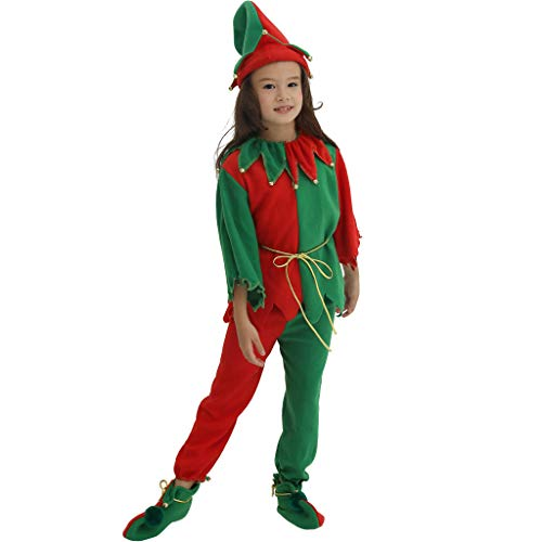 EraSpooky Christmas Elf Kids Costume Whole -