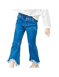 Kids Children's Clothes, Cocohot Girl Princess Trumpet Jeans Wide Leg Pants 1-8T
