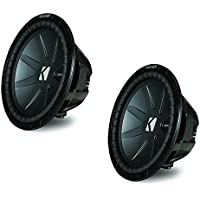 Kicker CompR package - Two 12 CompR Subwoofers Dual 2 Ohm 40CWR122