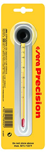 sera 08902 Präzisionsthermometer, Hochpräzises Glasthermometer, Skala von 0 - 50 °C