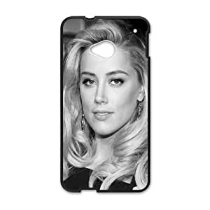 Celebrities Amber Heard Black Dress HTC One M7 Cell Phone Case Black&Phone Accessory STC_165052