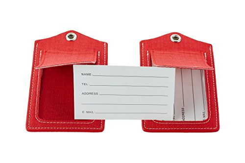 SimpacX Fabric Passport Holder Wallet Cover Case RFID Blocking Travel Wallet (holder plus tag red) by SimpacX (Image #6)