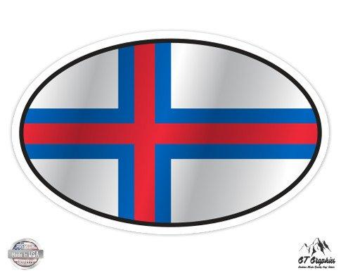 Faroe Islands Flag Oval - 5