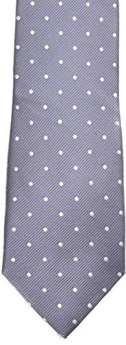 Club Room Mens Silk Necktie Drop Down Dot Grey