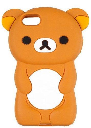 Demarkt 3D Ours Coque Housse Marron Couverture Coque Ours Brun Case Cover pour iPhone 5
