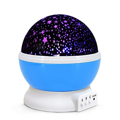 Wizunit Constellation Night Light Projector, Planetarium Cosmos Star Projector with 360 Rotation Starry Ceiling for Baby Kids Child Bedroom(Blue)